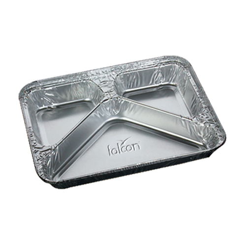 Falcon Aluminium Container with Lid - 3 Section