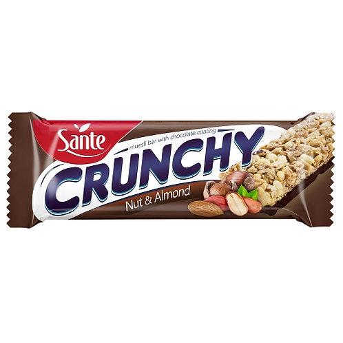 Sante Crunchy Bar Nut and Almond Chocolate Coated - 40g