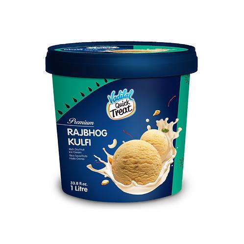Vadilal Rajbhog Kulfi Ice Cream - 1L