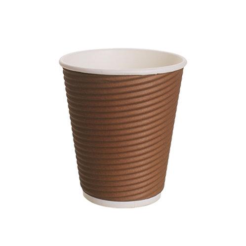 Falcon Round Ripple Cup - 12 Oz (Brown)