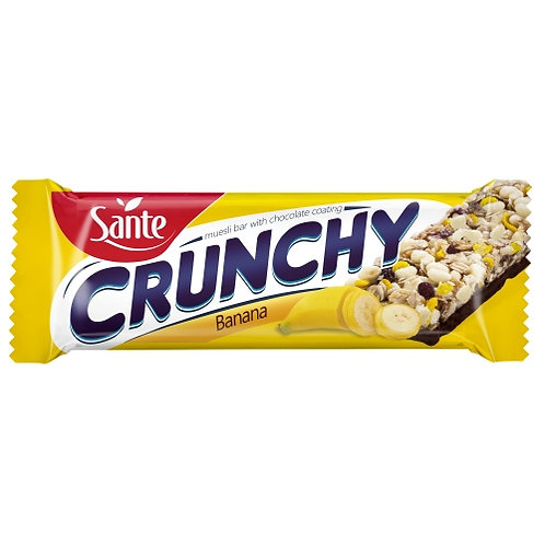 Sante Crunchy Bar Banana Chocolate Coated - 40g