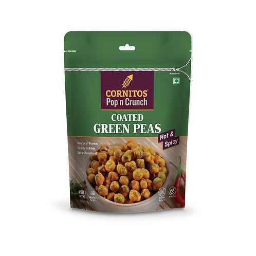 Cornitos Coated Green Peas (Hot & Spicy) - 150g