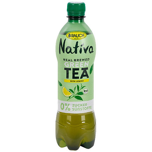 Rauch Nativa Bio Lemon Green Tea - 500ml