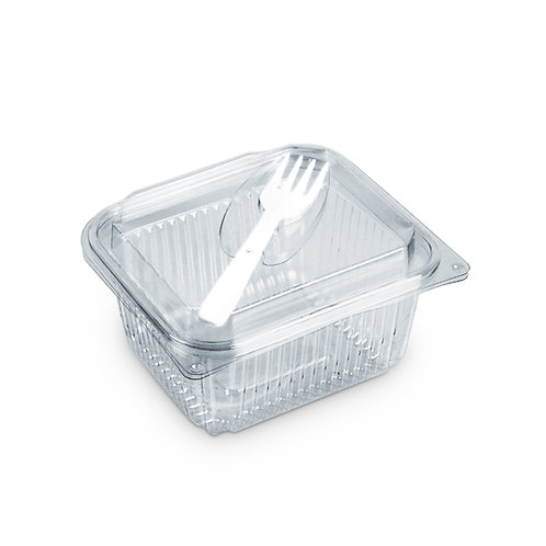 Falcon Rectangle Container with Hinged Lid & Fork