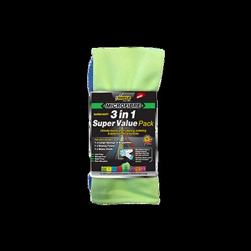 Shield Microfibre 3 in 1 Super Value Pack