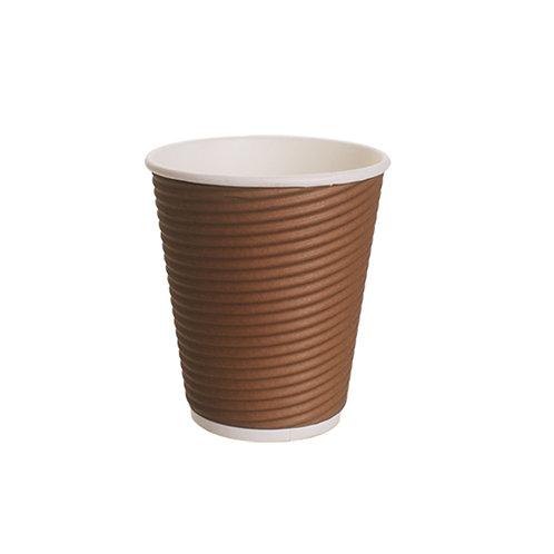Falcon Round Ripple Cup - 8 Oz (Brown)