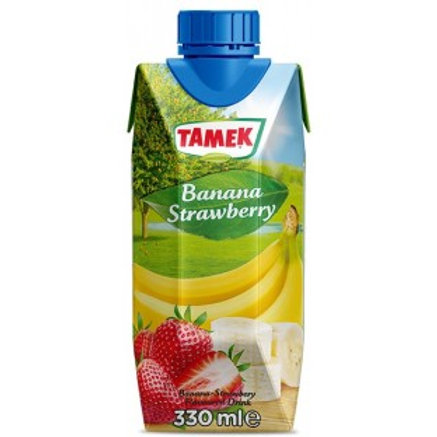 Tamek Banana Strawberry Flavoured Drink - 330ml