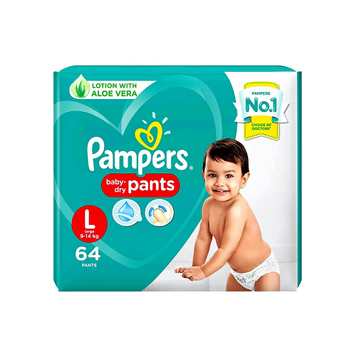 Pampers Baby Dry Pants Large - 64 Pieces