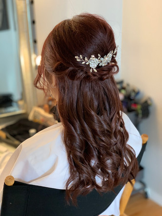 Half Updo for your wedding dress! Very Elegant!