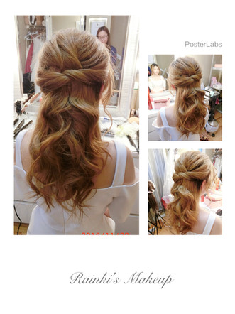 If you don't like a updo, what about something like this?