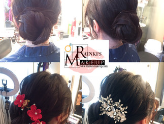 An idea of one hairstyle for both White & Red Dresses!