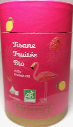Tisane fruitée yuzu framboise bio - Baronny's