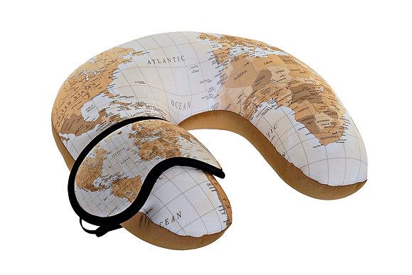 Coussin et masque de voyage