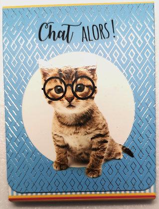 """Petit carnet """"Chat alors"""""""