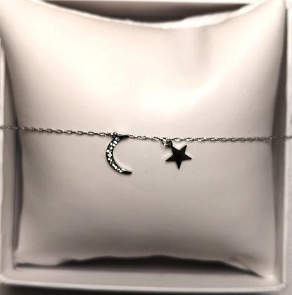 Bracelet en acier véritable couleur argent