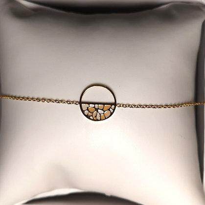 Bracelet en acier véritable couleur or