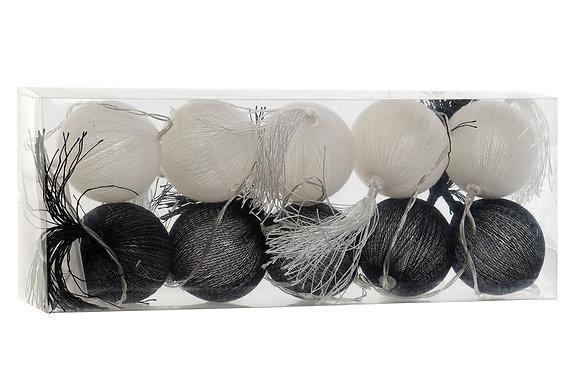 Guirlande LED noire et blanche 6X6X150