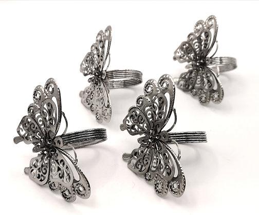Ronds de serviette papillons