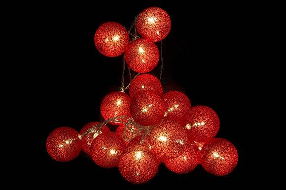 Guirlande led rouge 6x450cm