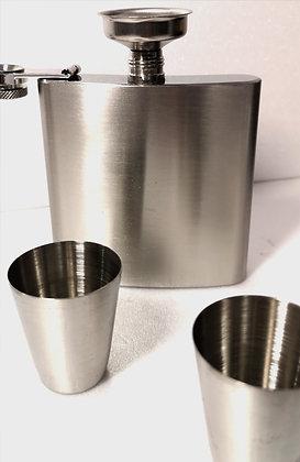 Coffret flasque et gobelets acier inoxydable