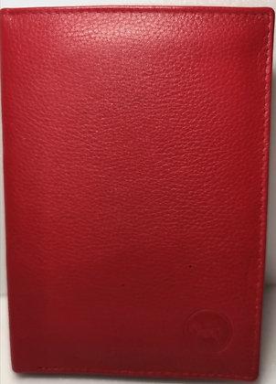 Portefeuille 14 - Cuir véritable - Rouge