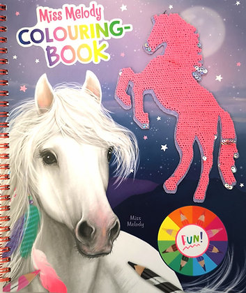 Colouring book chevaux