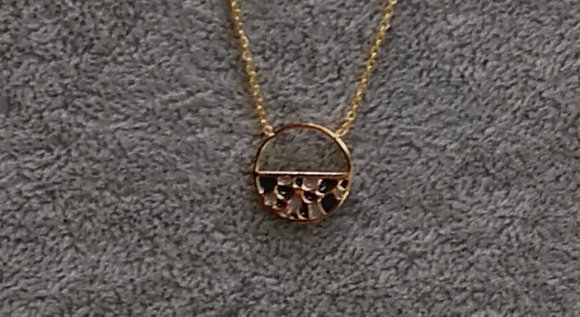 Collier en acier couleur or