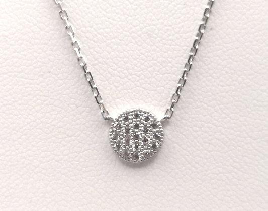 Collier argent rodhié et oxyde de zirconium
