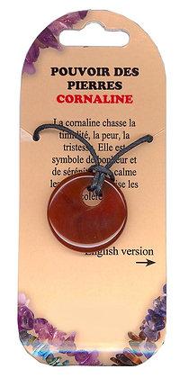 Collier Pouvoir des pierres - Cornaline