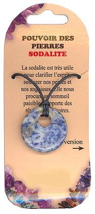 Collier Pouvoir des pierres - Sodalite