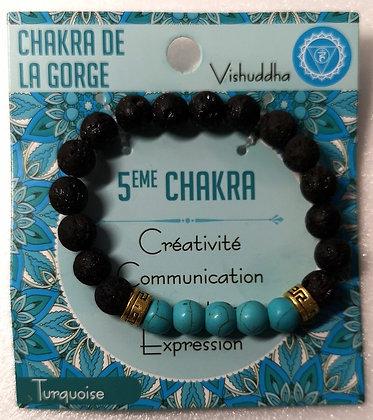Bracelet pierre de lave et turquoise
