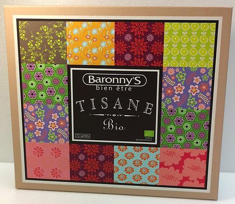 Joli coffret de tisanes Baronny's Bio