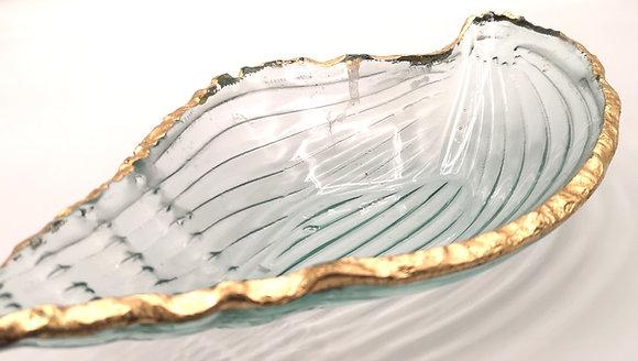 Coupelle en verre liseré doré
