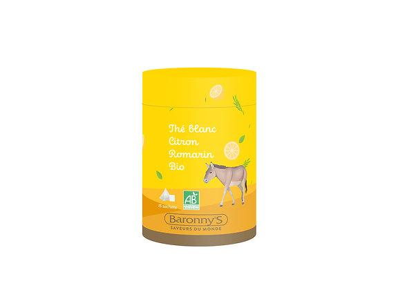 Thé blanc citron romarin bio - Baronny's