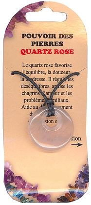 Collier Pouvoir des pierres - Quartz rose