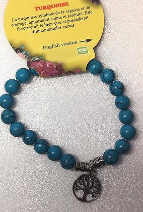 Bracelet Turquoise Arbre de Vie