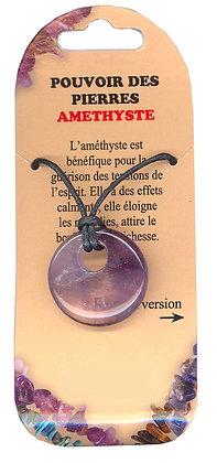 Collier Pouvoir des pierres - Amethyste