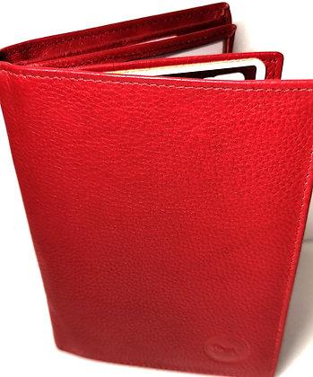Portefeuille 16 - Cuir véritable - Rouge