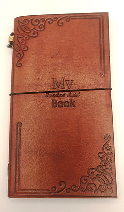 "Carnet cuir ""My bucket list book"""