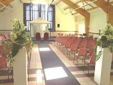 salle des fêtes décorée pour cérémonie