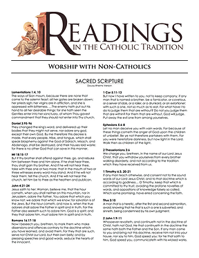 RESOURCE: On Worship With Non-Catholics