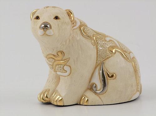 Orso polare seduto papa - De rosa collezione