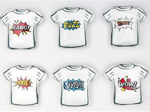 Magnete scritte 6 fumetti misti bomboniere Cresima Comunione
