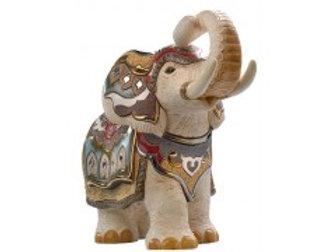 Elefante indiano proboscide in su  - De rosa collezione
