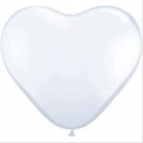 Palloncini gonfiabili a forma di cuore bianchi 2 misure
