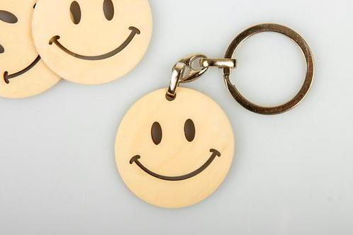 Portachiavi smile in legno