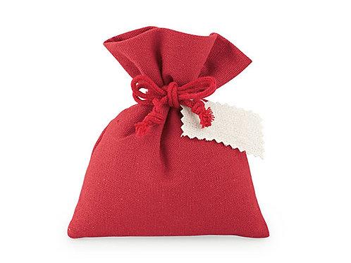 Sacchetto medio in cotone rosso