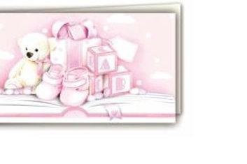 Biglietto orsetto rosa