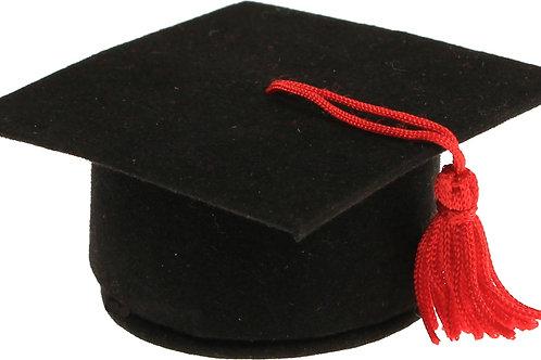 Cappello laurea nero in velluto