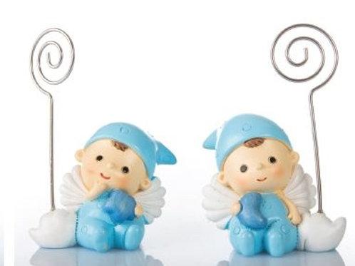 Baby Angelino blu clip 2 assortiti Bomboniere Nascita Battesimo